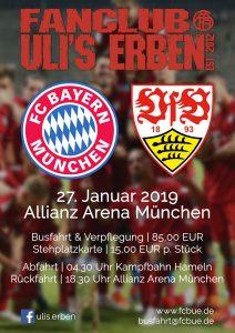 Busfahrt Uli's Erben zum FC Bayern München gegen den VfB Stuttgart